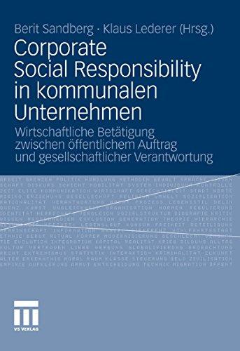 Corporate Social Responsibility in kommunalen Unternehmen Buch Bild